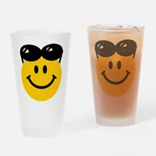 Perched Sunglasses Smiley Drinking Glass