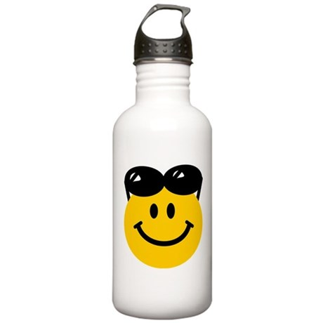 Perched Sunglasses Smiley Stainless Water Bottle 1