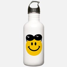 Perched Sunglasses Smiley Water Bottle