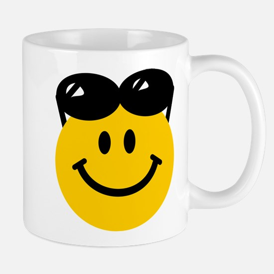 Perched Sunglasses Smiley Mug