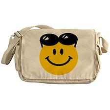 Perched Sunglasses Smiley Messenger Bag