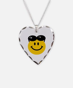 Perched Sunglasses Smiley Necklace