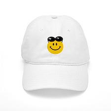 Perched Sunglasses Smiley Baseball Cap