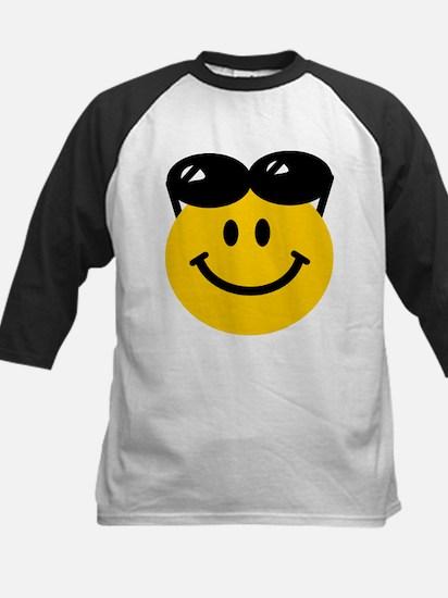 Perched Sunglasses Smiley Kids Baseball Jersey
