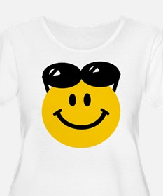 Perched Sunglasses Smiley T-Shirt