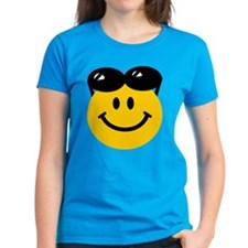 Perched Sunglasses Smiley Tee