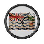 British Indian Ocean Territor Large Wall Clock
