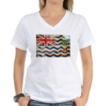 British Indian Ocean Territor Women's V-Neck T-Shi