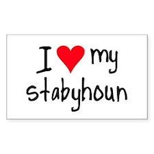 I LOVE MY Stabyhoun Decal