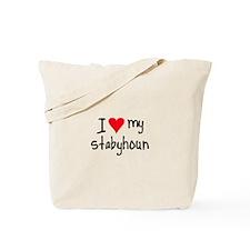I LOVE MY Stabyhoun Tote Bag