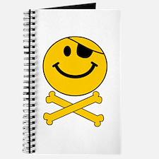 Skull and Cross Bones Smiley Journal