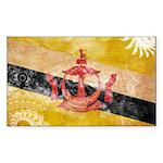 Brunei Flag Sticker (Rectangle 50 pk)