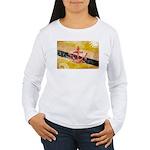 Brunei Flag Women's Long Sleeve T-Shirt