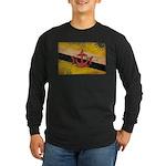 Brunei Flag Long Sleeve Dark T-Shirt