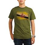 Brunei Flag Organic Men's T-Shirt (dark)