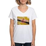 Brunei Flag Women's V-Neck T-Shirt