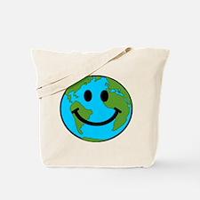 Smiling Earth Smiley Tote Bag