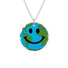 Smiling Earth Smiley Necklace
