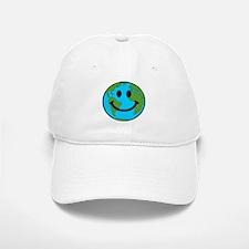 Smiling Earth Smiley Baseball Baseball Cap