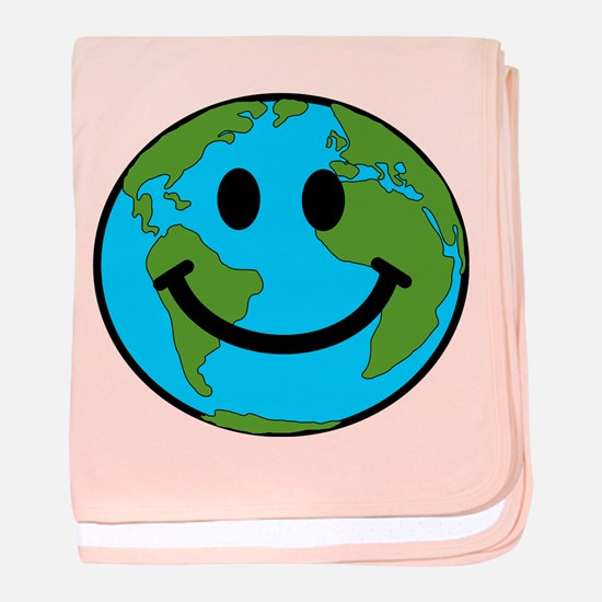Smiling Earth Smiley baby blanket
