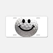Golf Ball Smiley Aluminum License Plate