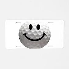 Golf Ball Smiley Aluminum License Plate