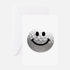 Golf Ball Smiley Greeting Cards (Pk of 20)