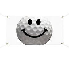 Golf Ball Smiley Banner