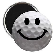 Golf Ball Smiley Magnet