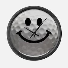 Golf Ball Smiley Large Wall Clock