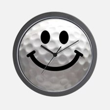Golf Ball Smiley Wall Clock