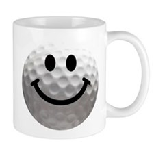Golf Ball Smiley Mug