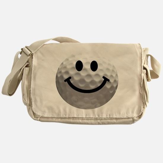Golf Ball Smiley Messenger Bag