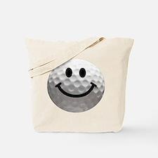 Golf Ball Smiley Tote Bag