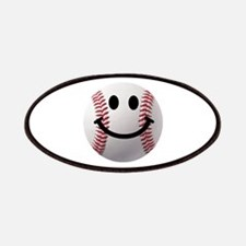 Baseball Smiley Patches
