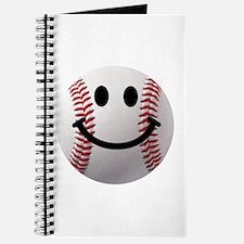Baseball Smiley Journal