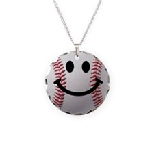 Baseball Smiley Necklace