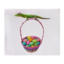 Easter Gecko Throw Blanket
