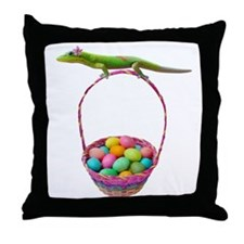Easter Gecko Throw Pillow
