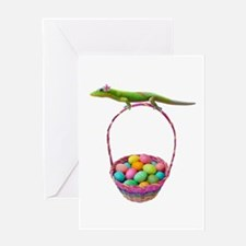 Easter Gecko Greeting Card