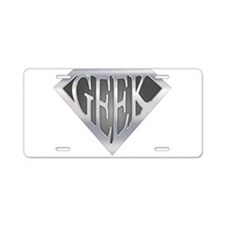 SuperGeek Aluminum License Plate