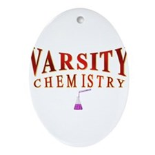 Varsity Chemistry in red Ornament (Oval)