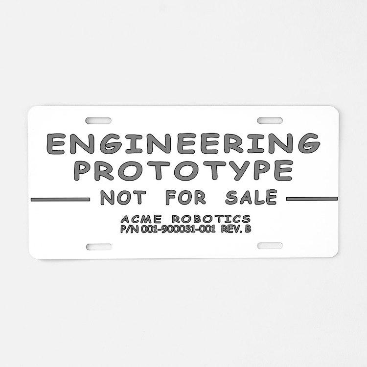 Prototype Rev. B Aluminum License Plate