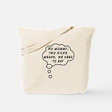 Two Kicks Tote Bag