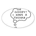 A Thumb Sticker (Oval)