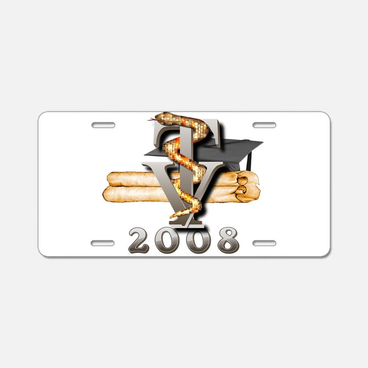 2008 Vet Tech Grad Aluminum License Plate
