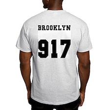 """""""BROOKLYN 917"""" Ash Grey T-Shirt"""