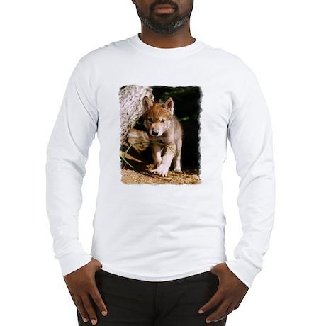 Approaching Wolf Pup Long Sleeve T-Shirt