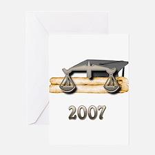 Law Grad 2007 Greeting Card