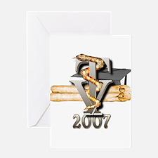Vet Tech Grad 2007 Greeting Card